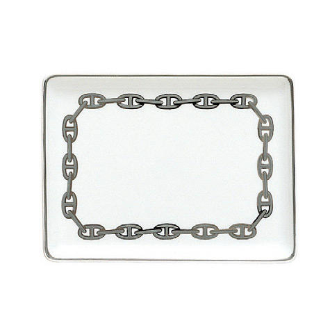 HERMES CHAINE D'ANCRE PLATINE SUSHI PLATE 004189P