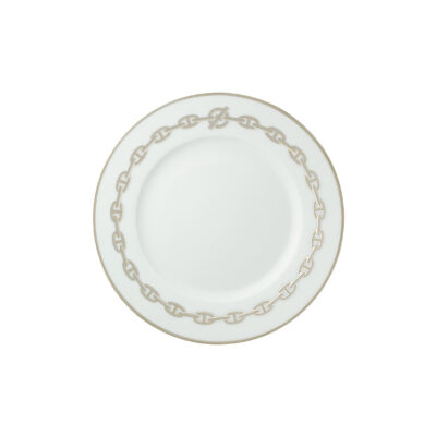 HERMES CHAINE D'ANCRE PLATINE DESSERT PLATE 004107P