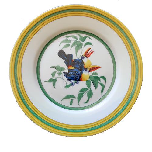 HERMES Toucans Piatto Dolce-Frutta 000311P