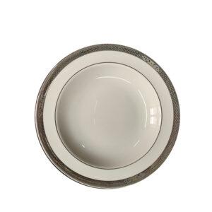 piatto fondo porcellana bone china wedgwood marcasite