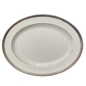 piatto ovale porcellana bone china 39 cm wedgwood marcasite