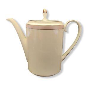 coffe pot caffettiera wedgwood bone china fuori produzione vera wang pink duchesse