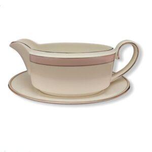 salsiera con piattino 20 cm bone china boat and soucer wedgwood vera wang pink duchesse fuori produzione