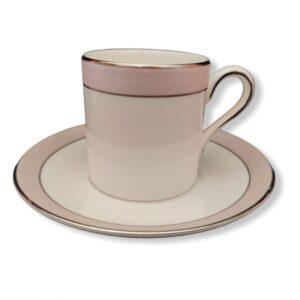 tazzina da caffè bone china piattino vera wang pink duchesse fuori produzione wedgwood