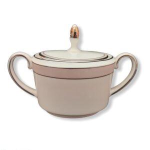 zuccheriera sugar box bone china wedgwood vera wang pink duchesse fuori produzione