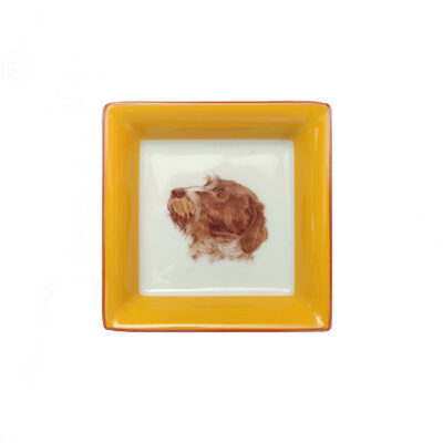 HERMES Chiens courants & Chiens d'arret Ashtray Posacenere GIALLO