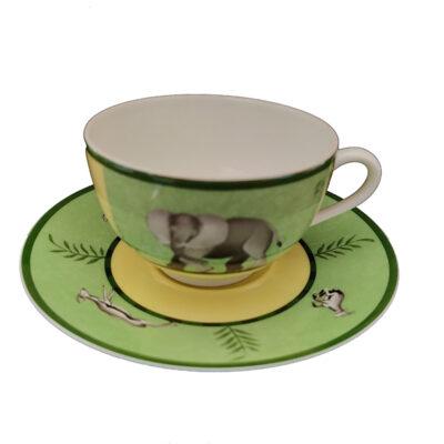 HERMES Africa Green Tazza Te' Tea Cup