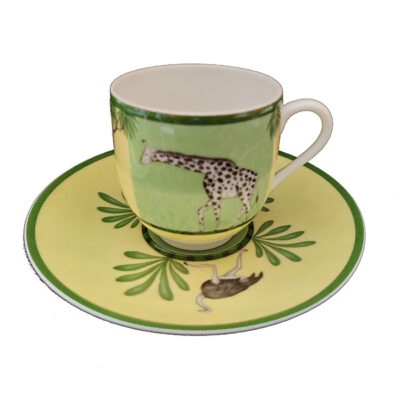HERMES Africa Green Tazza Caffe' Coffe Cup
