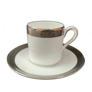 tazza porcellana caffe con piattino wedgwood marcasite