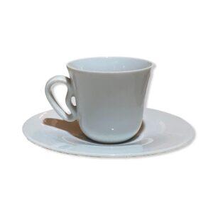 alessi tazza caffe e piattino porcellana bianca KU fuori produzione