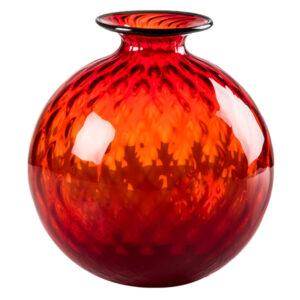 VENINI MONOFIORI BALLOTON Vaso Rosso