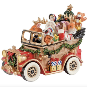 FITZ AND FLOYD Carillon Babbo Natale auto