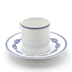 CHAINE D'ANCRE BLUE Coffe Cup and Saucer